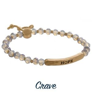 """""""Hope"""" bracelet metal face with facet beads"""
